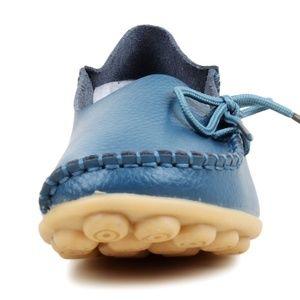 Kusto Blue Soft Leather Loafer Anti-Slip Sole
